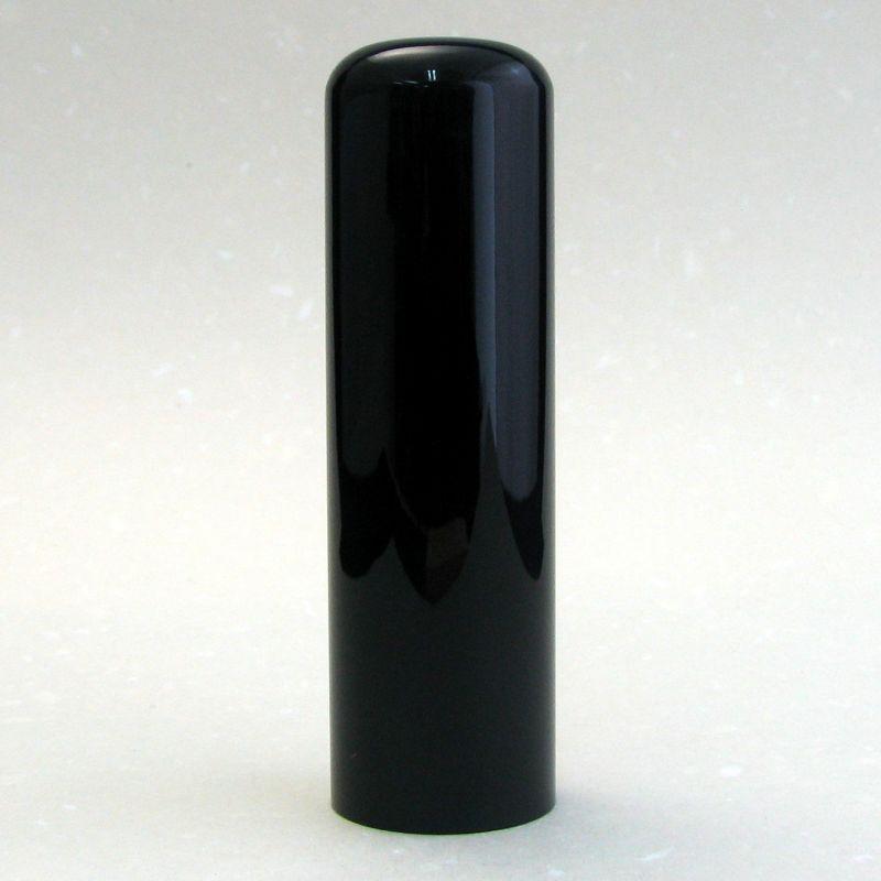 画像1: 【法人銀行印】黒水牛(特上芯) 丸寸胴 18.0mm